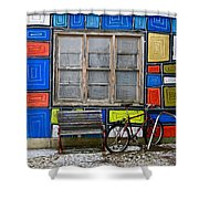 Outside Boxes Shower Curtain