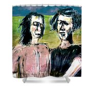 Outstanding In Their Field Shower Curtain