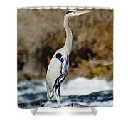 Outstanding On His Rock Shower Curtain