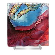 Outwards Inwards Shower Curtain