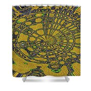 Oval Abstract Maple Leaf  Shower Curtain