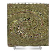 Oval Abstract Panel 6150-5 Shower Curtain