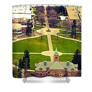 Oval At University Of Montana  Shower Curtain