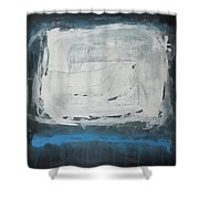 Over Blue Shower Curtain