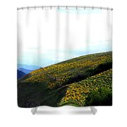 Over Hill And Dale Shower Curtain