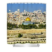 Over Jerusalem Shower Curtain