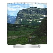 Over Logan's Pass Shower Curtain
