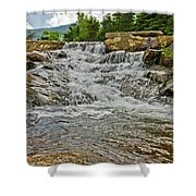 Over Natures Dam Shower Curtain