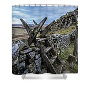 Over Ridley Common Shower Curtain