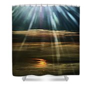 Over Rivers Of Gold Shower Curtain