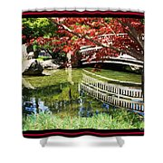 Over Springtime Pond Shower Curtain