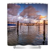 Over The Bay Shower Curtain