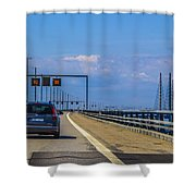 Over The Bridge Shower Curtain