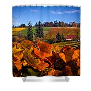 Over The Durant Vineyards Shower Curtain