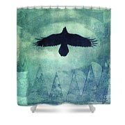 Over The Edges Shower Curtain