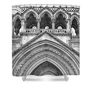 Over The Entrance To The Royal Courts  Shower Curtain