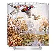 Over The Fen Shower Curtain