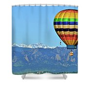 Over The Flatirons Shower Curtain