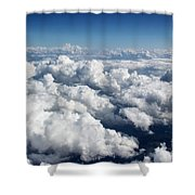 Over The Heavenly Clouds Shower Curtain