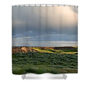 Over The Land Shower Curtain