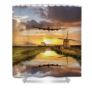 Over The Mills Shower Curtain