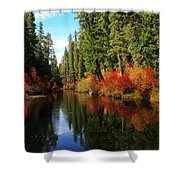 Over The Mountains And Thru The Trees Shower Curtain