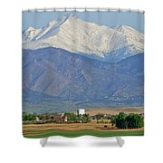 Over The Mountains Shower Curtain by Scott Mahon