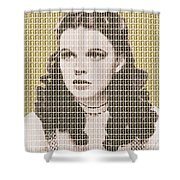 Over The Rainbow Gold Shower Curtain