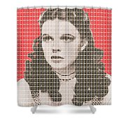 Over The Rainbow Red Shower Curtain