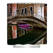 Over The River And Through The Buildings Shower Curtain