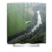 Over The River Shower Curtain
