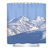 Over The Rockies Shower Curtain by Scott Mahon