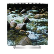 Over The Boulders - Mossman Gorge, Far North Queensland, Australia Shower Curtain