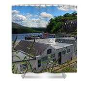 Over The Rooftops At Portree Shower Curtain