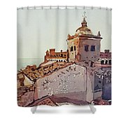 Over The Rooftops, Caceres Shower Curtain