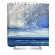 Over The Shore Shower Curtain
