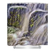 Over The Stones Shower Curtain