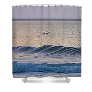 Over The Waves Shower Curtain