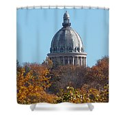 Over The Tree Tops Shower Curtain