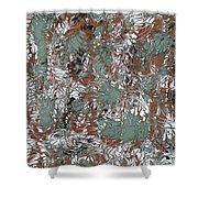 Overactive Christmas Celebration - V1slf100 Shower Curtain