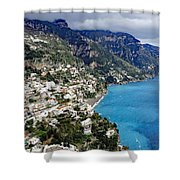 Overall View Of Part Of The Amalfi Coast In Italy Shower Curtain