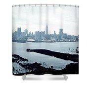 Overcast City Shower Curtain
