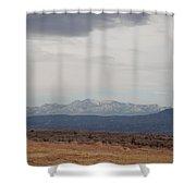 Overcast On The Sandias Shower Curtain