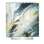 Overcast Sea Abstract Shower Curtain