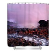 Overcome By The Tides Shower Curtain