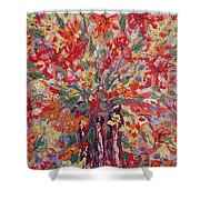 Overflowing Flowers. Shower Curtain