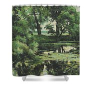 Overgrown Pond Shower Curtain