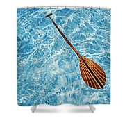 Overhead View Of Paddle Shower Curtain