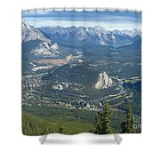 Overlook Banff Vista Shower Curtain