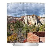 Overlook In Zion National Park Upper Plateau Shower Curtain
